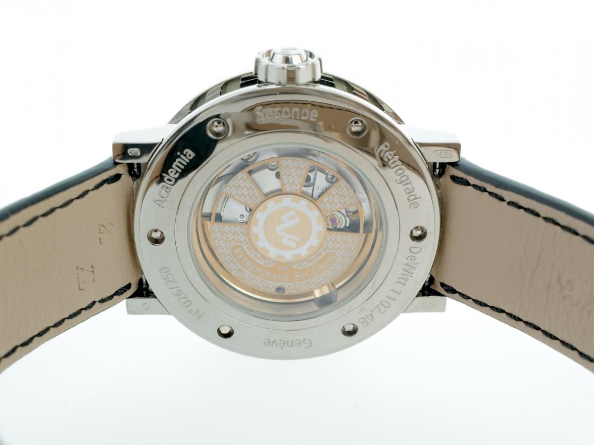 Швейцарские часы Dewitt Retrograde Seconde Academia 18K White Gold