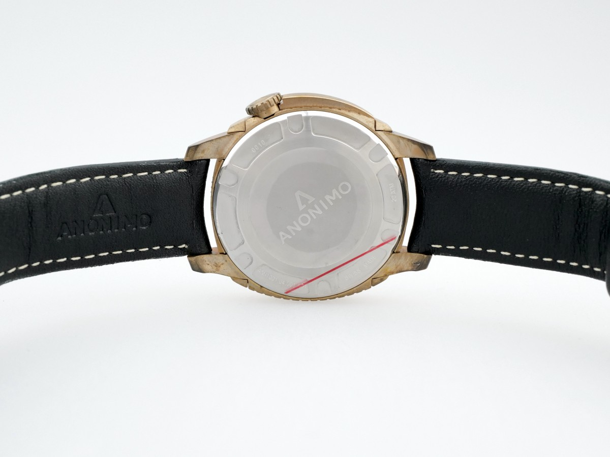 Швейцарские часы Anonimo Nautilo Automatic Bronze Black Dial 44mm