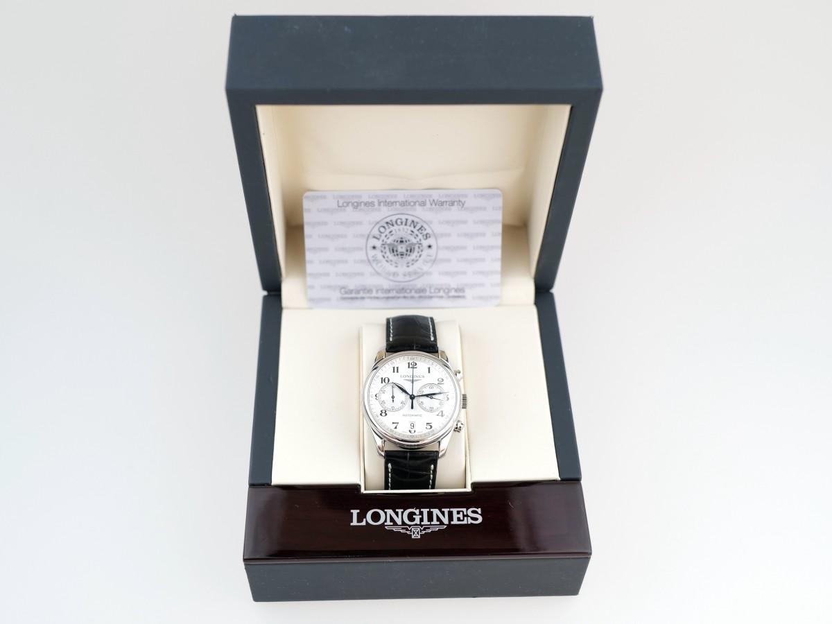 Швейцарские часы Longines Master Collection Chronograph White