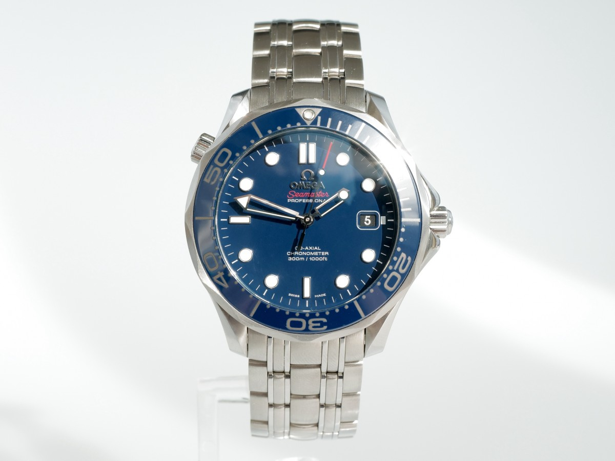 Швейцарские часы Omega Seamaster Diver 300m Co‑Axial 41mm Blue Ceramic