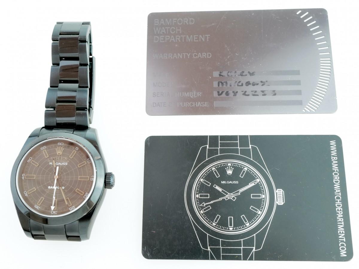 Швейцарские часы Rolex Milgauss Bamford 25 Limited Edition