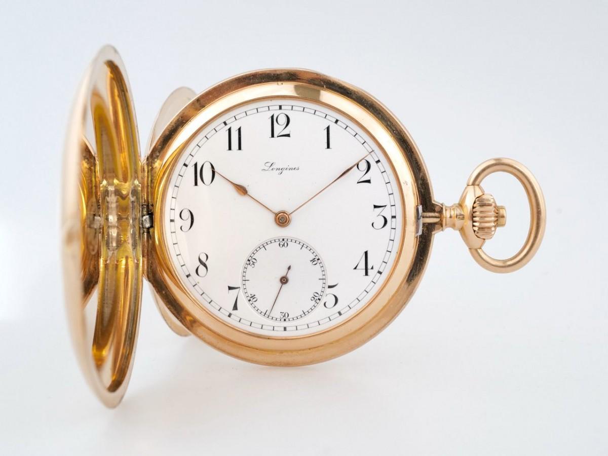 Швейцарские часы Longines 5 Grands Prix 14K Gold Pocket Watch 53 mm