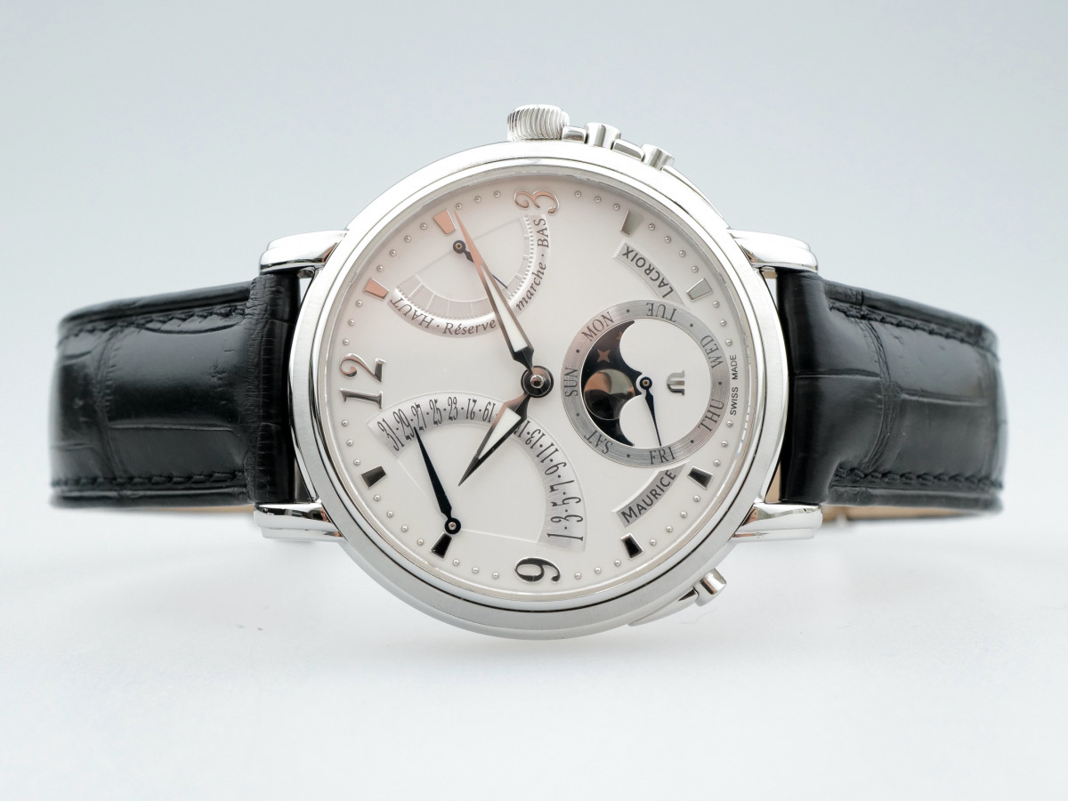 Швейцарские часы Maurice Lacroix Masterpiece Lune Retrograde Moon Phase