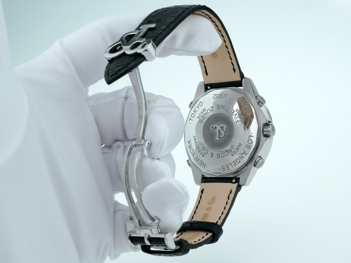 Швейцарские часы Jacob & Co. Five Times Zone 47mm Diamonds