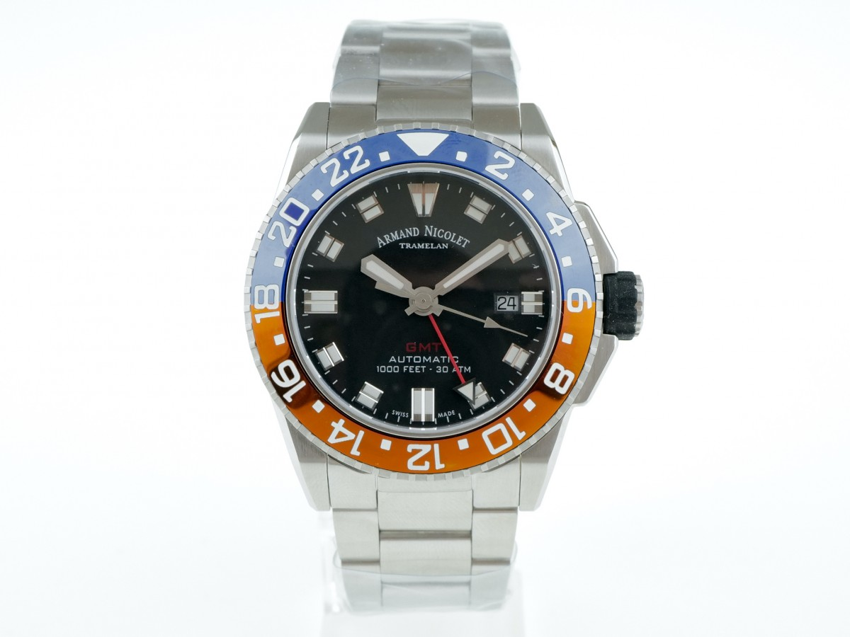 Швейцарские часы Armand Nicolet JS9 GMT Diver NEW