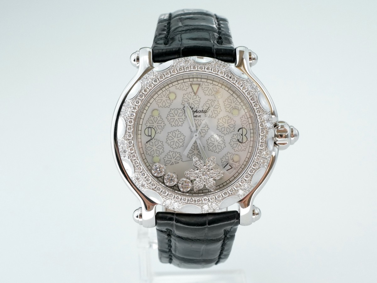 "Швейцарские часы Chopard Happy sport ""Snowflake"" quartz 38mm"