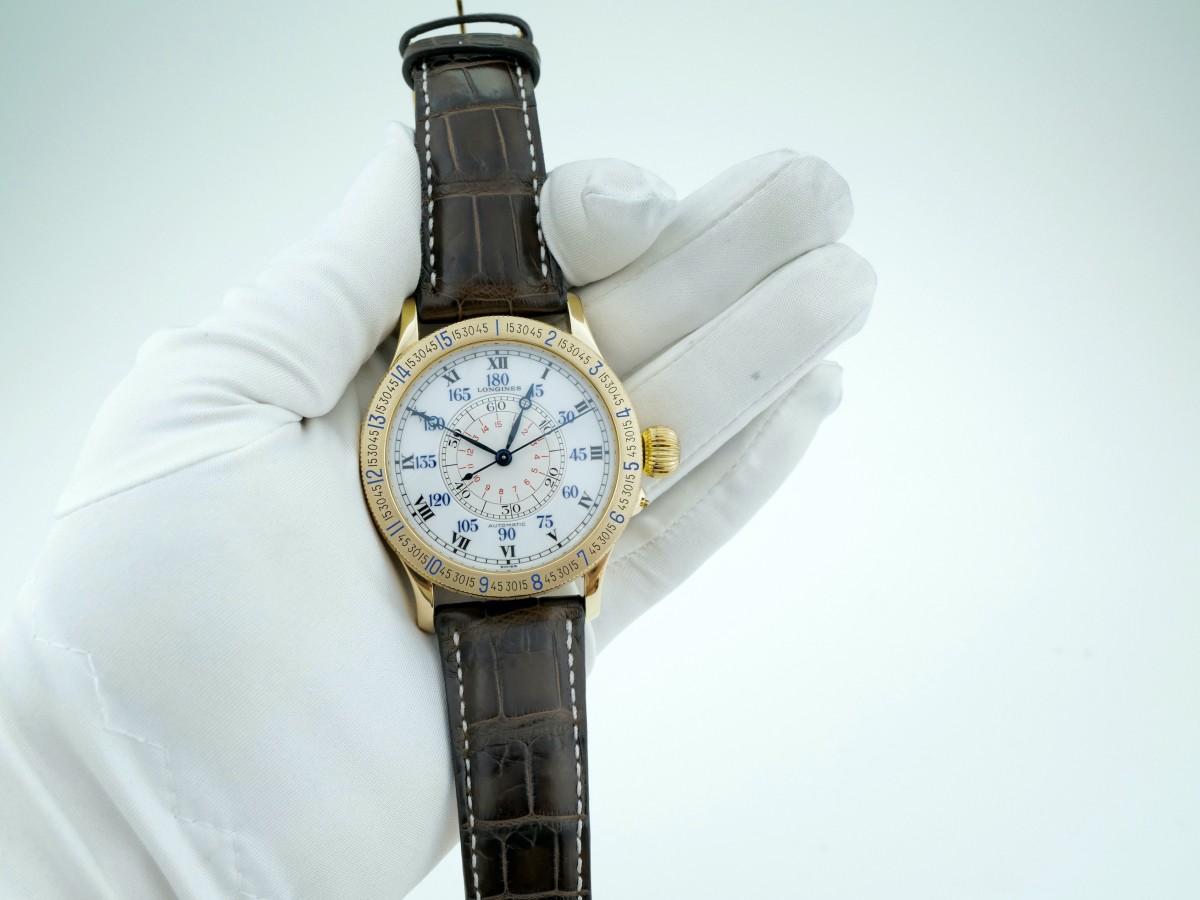 Швейцарские часы Longines Lindbergh Hour Angle 47mm L2.678.6 18K Limited
