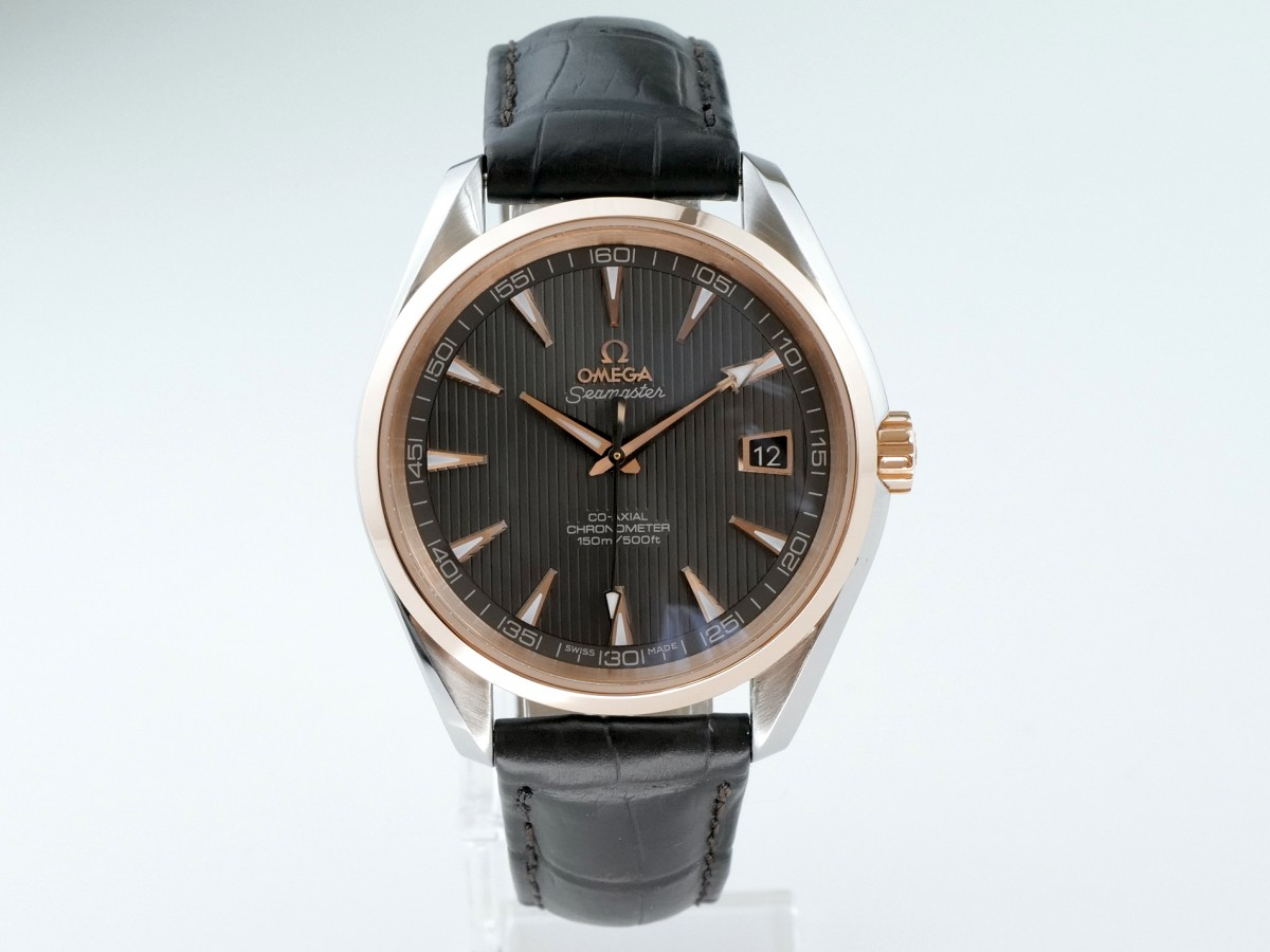 Швейцарские часы Omega Seamaster Aqua Terra 150M Co-Axial Steel/Red Gold