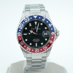 Швейцарские часы Revue Thommen Diver GMT Rot-Blau 42mm 17572.2135