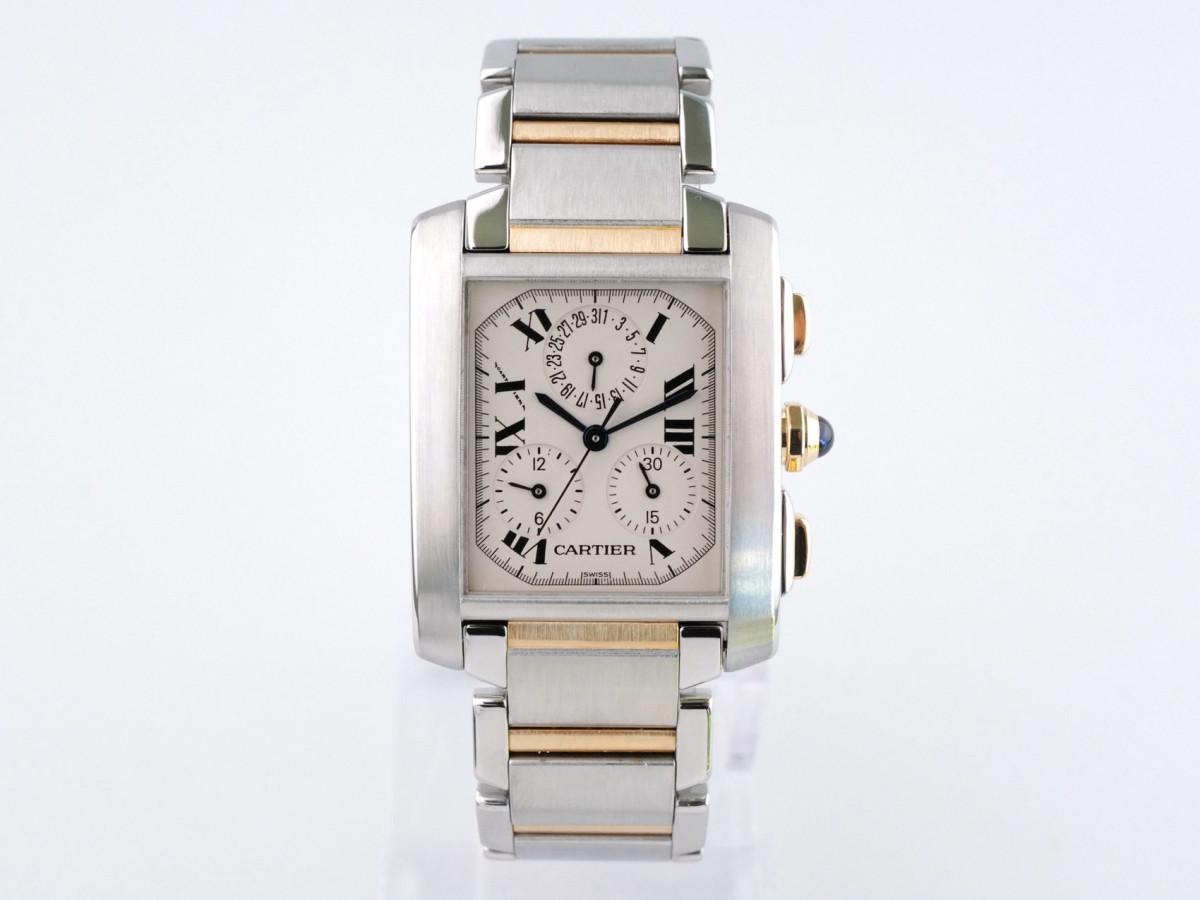 Швейцарские часы Cartier Tank Francaise Chronoflex Gold Steel 2303