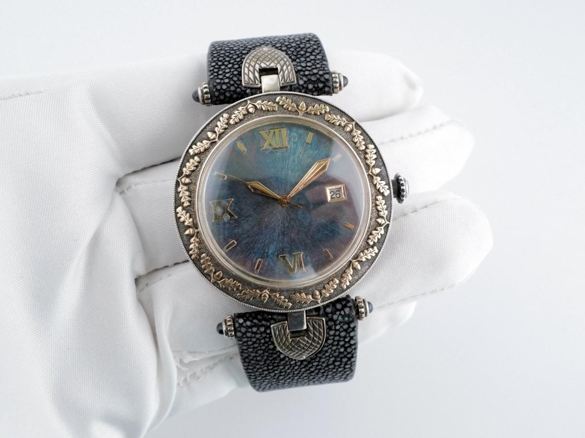 Швейцарские часы Labortas охотничьи серебро