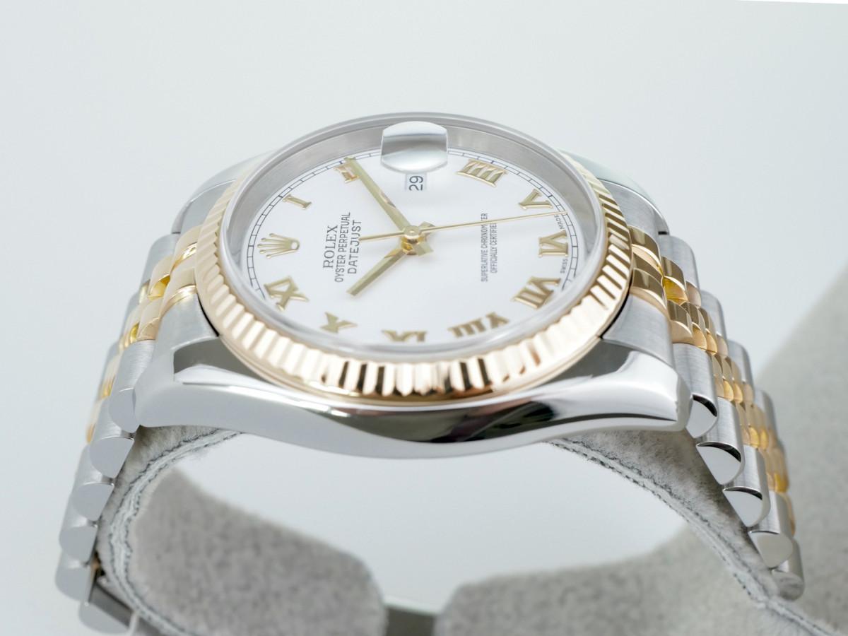 Швейцарские часы Rolex Lady-Datejust 31mm Yellow Gold & Steel White 178273