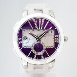 Швейцарские часы Ulysse Nardin Executive Dual Time Purple Dial