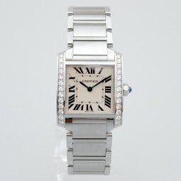 Швейцарские часы Cartier Tank Francaise Diamonds W4TA0009