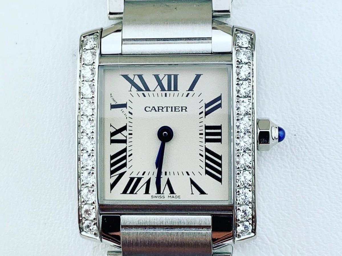 Швейцарские часы Cartier Tank Francaise Diamonds W4TA0008