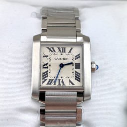 Швейцарские часы Cartier Tank Francaise Silver Dial WSTA0005