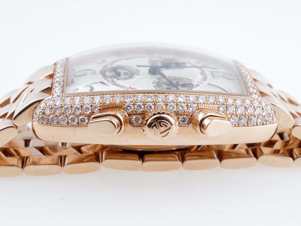 Швейцарские часы Franck Muller Cintree Curvex Chronograph 18k Rose Gold Diamond