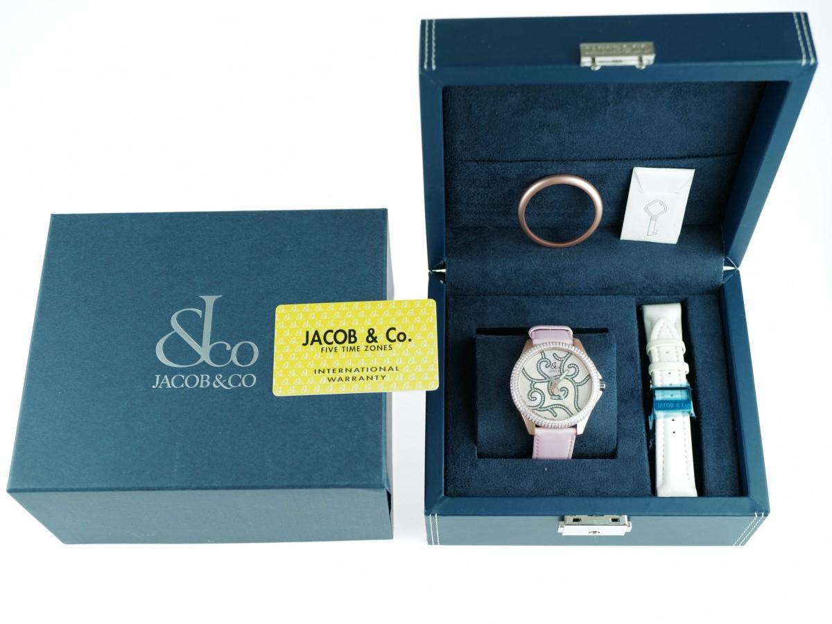 Швейцарские часы Jacob & Co. One Time Zone Mother of Pearl Diamond Ladies