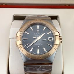 Швейцарские часы Omega Constellation 18kt Rose Gold & Steel Gray Automatic