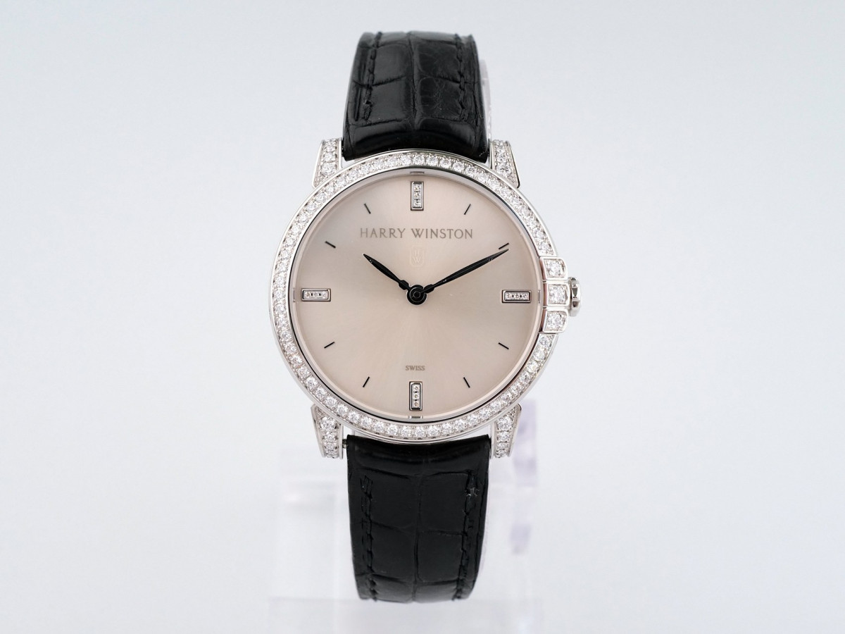 Швейцарские часы Harry Winston Midnight 18K White Gold Diamonds 450/LQ32WL.W/D3.1