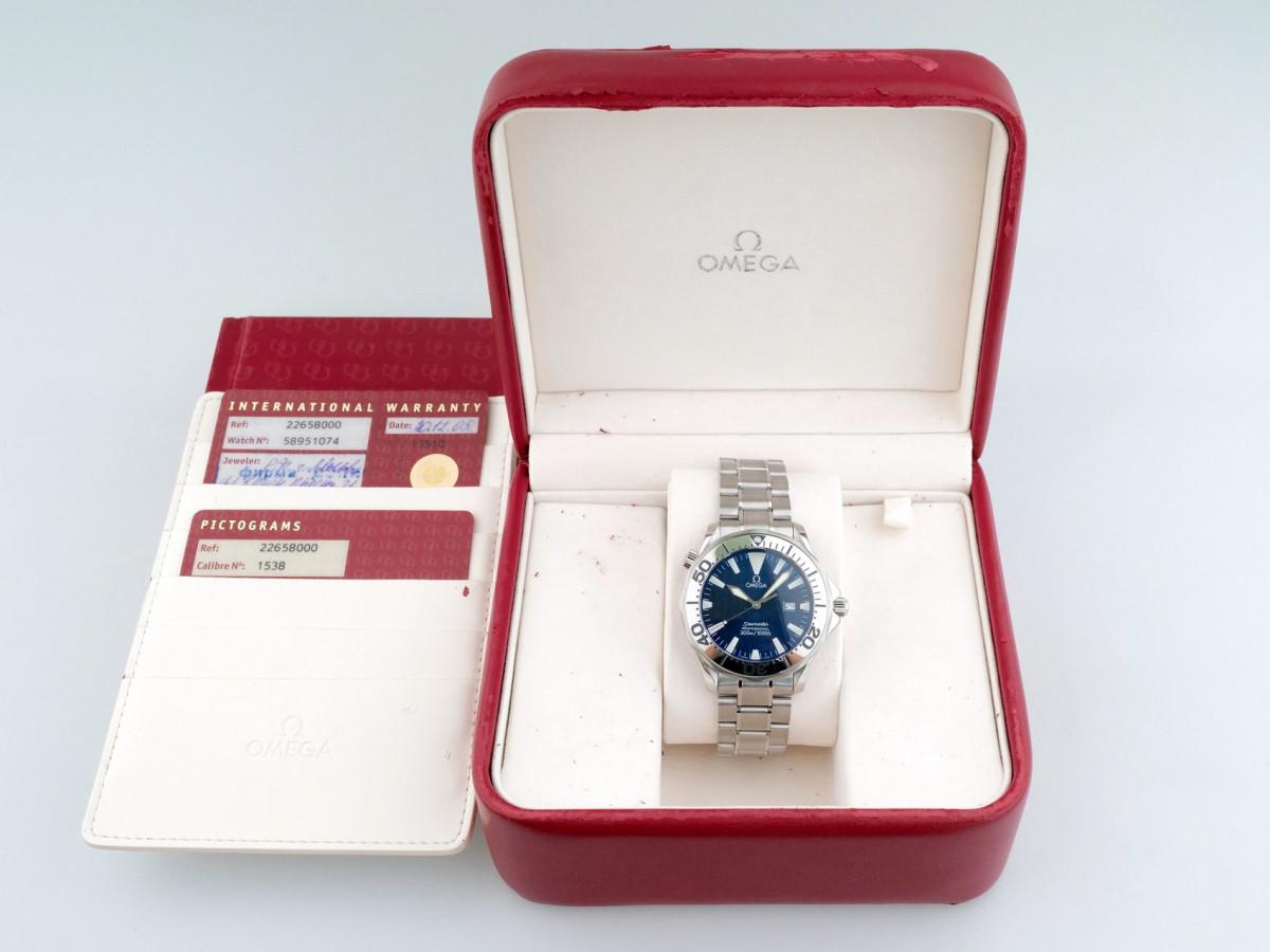 Швейцарские часы Omega Seamaster Quartz Chronometer Electric Blue 300M