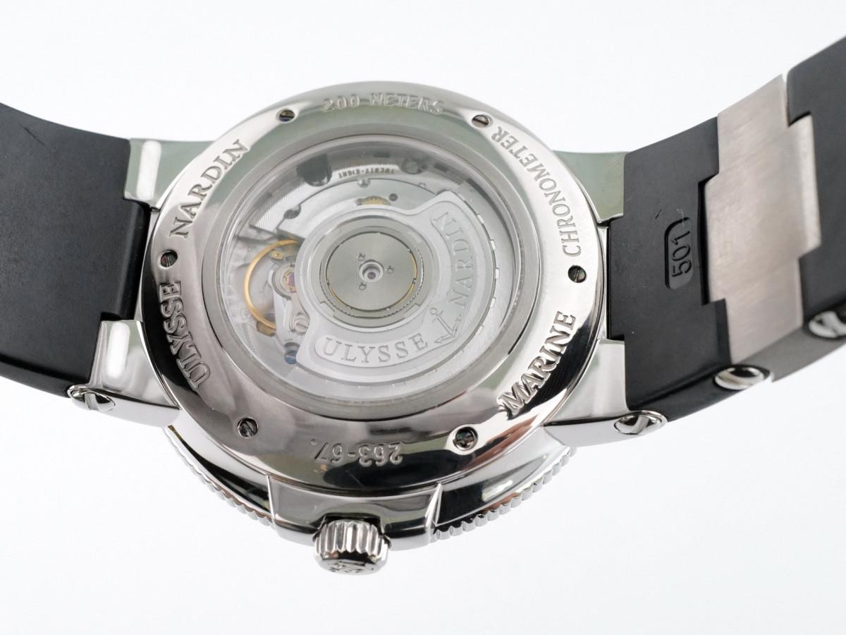 Швейцарские часы Ulysse Nardin Maxi Marine Chronometer 43mm Black Dial