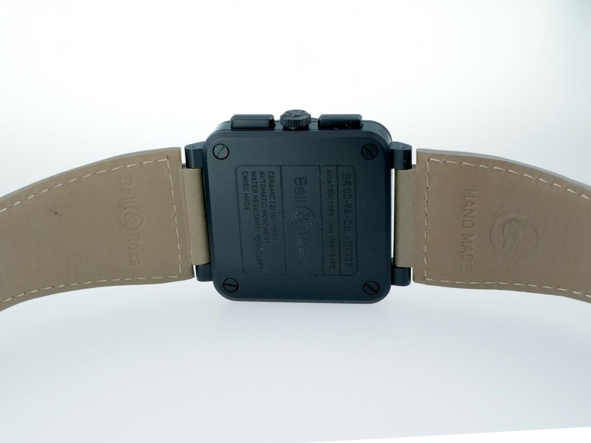 Швейцарские часы Bell & Ross BR03-94 Ceramic Desert Type Chronograph
