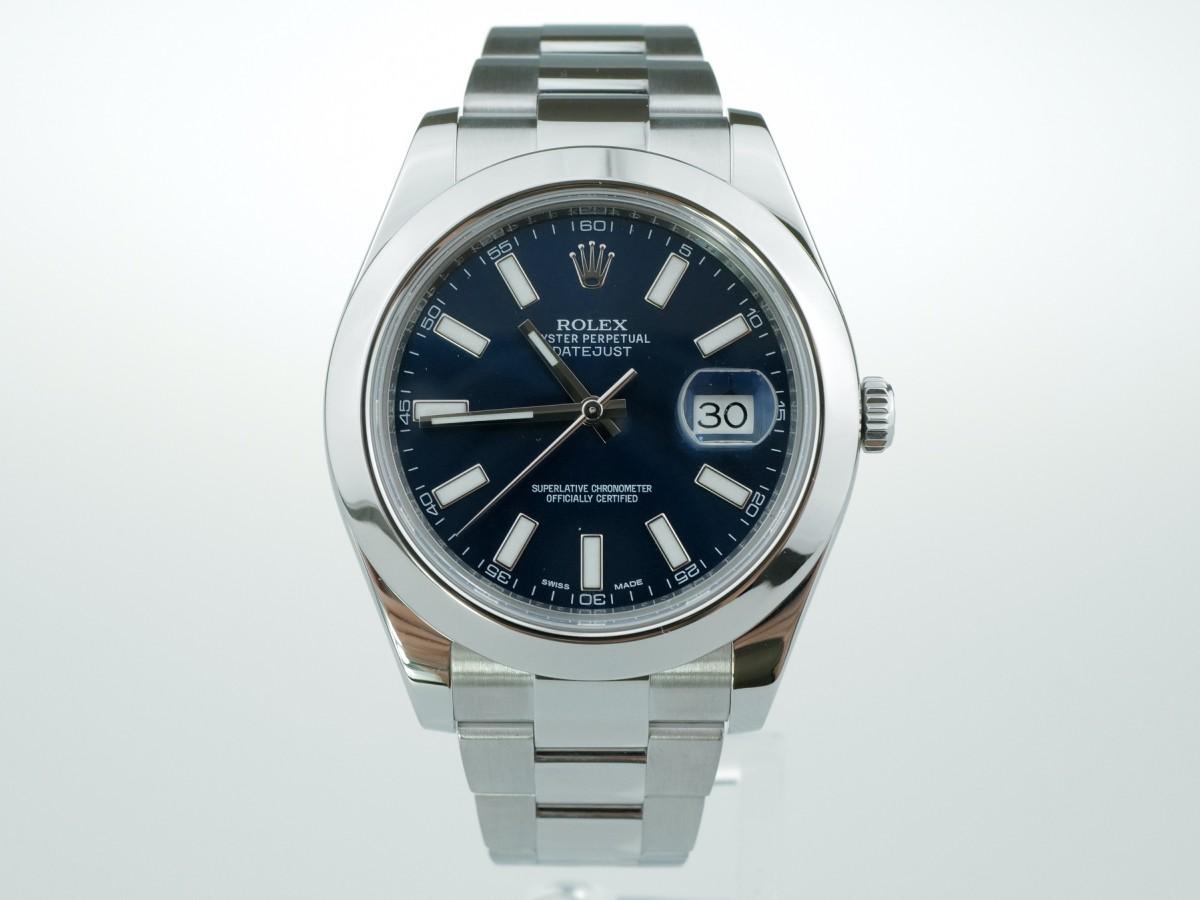 Швейцарские часы Rolex Datejust II Blue Dial 116300