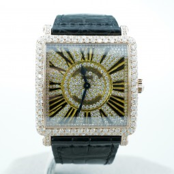 Швейцарские часы Franck Muller Master Square 18K Gold Diamonds