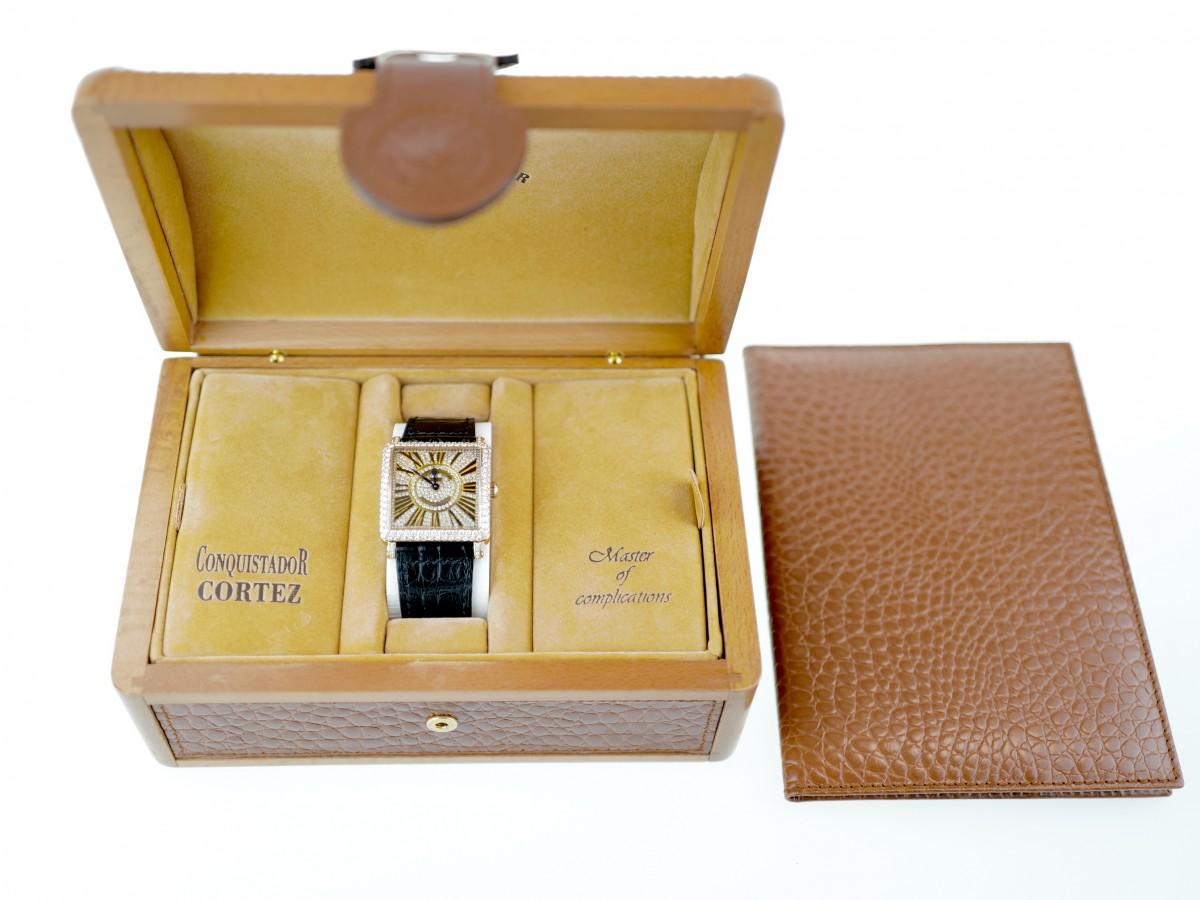 Швейцарские часы Franck Muller Master Square 18K Gold Diamonds