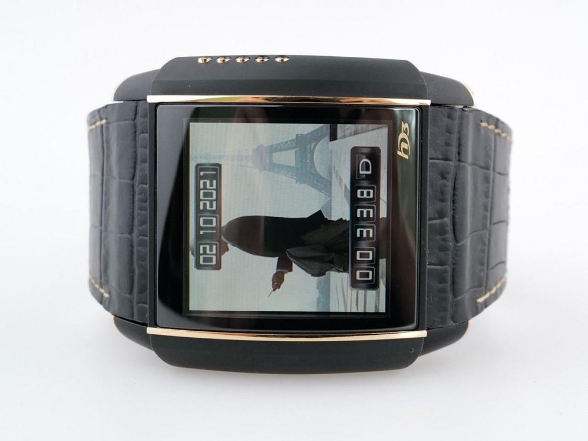 Швейцарские часы HD3 Slyde Black & Rose Gold