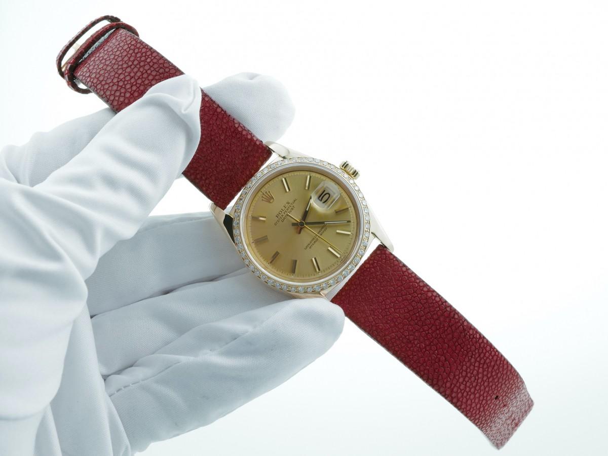 Швейцарские часы Rolex Datejust 36 mm 18K Yellow Gold Diamond Bezel